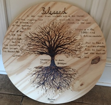 Blessed Wood burning project